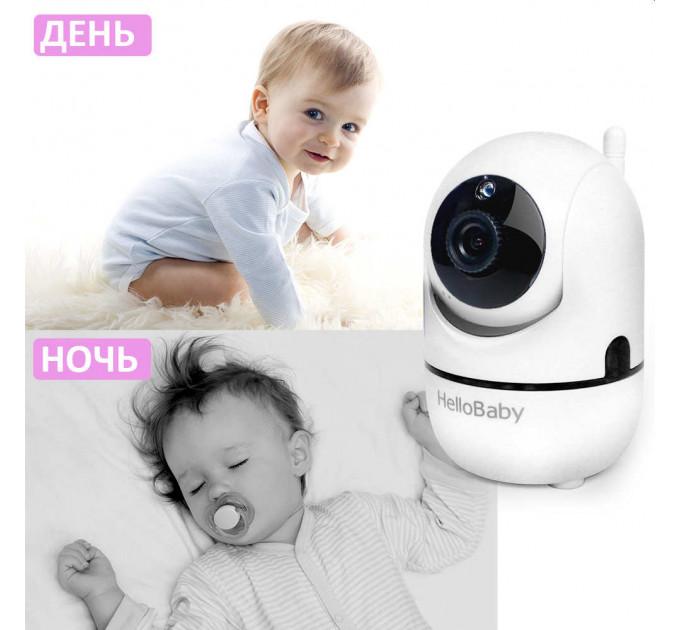 Видеоняня HelloBaby HB65 с поворотной камерой и экраном 3,5 дюйма