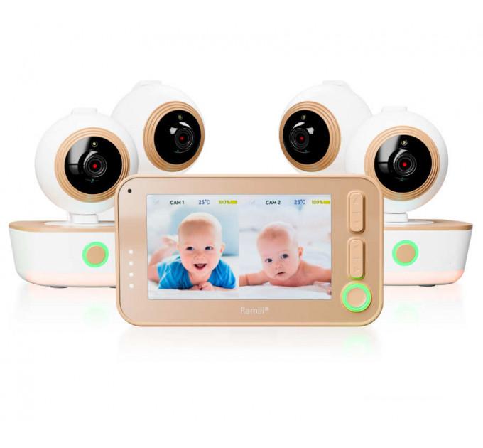 Видеоняня Ramili Baby RV1300X4 с 4-мя поворотными камерами