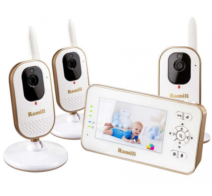 Видеоняня Ramili Baby RV350X3 с тремя камерами