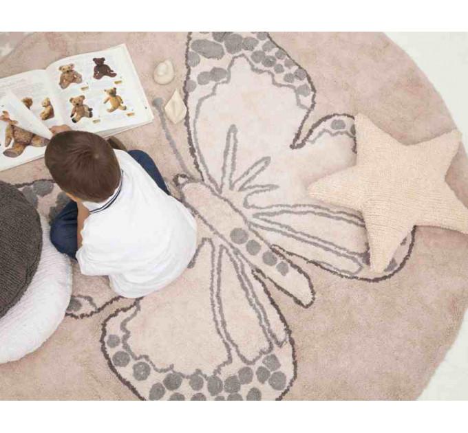 Ковер Lorena Canals бабочка винтажный бежевый 160 см
