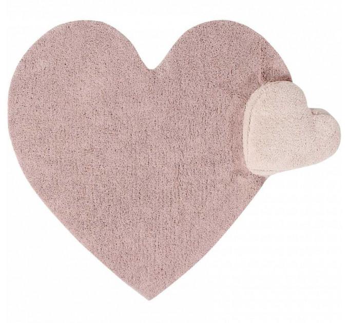 Ковер Lorena Canals Сердце с подушкой розовое 160х180 см