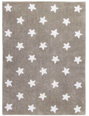 Ковер Lorena Canals Stars бежевый с белым 120*160
