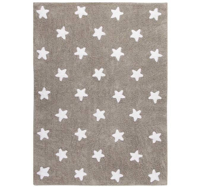 Ковер Lorena Canals Stars бежевый с белым 120 на 160 см