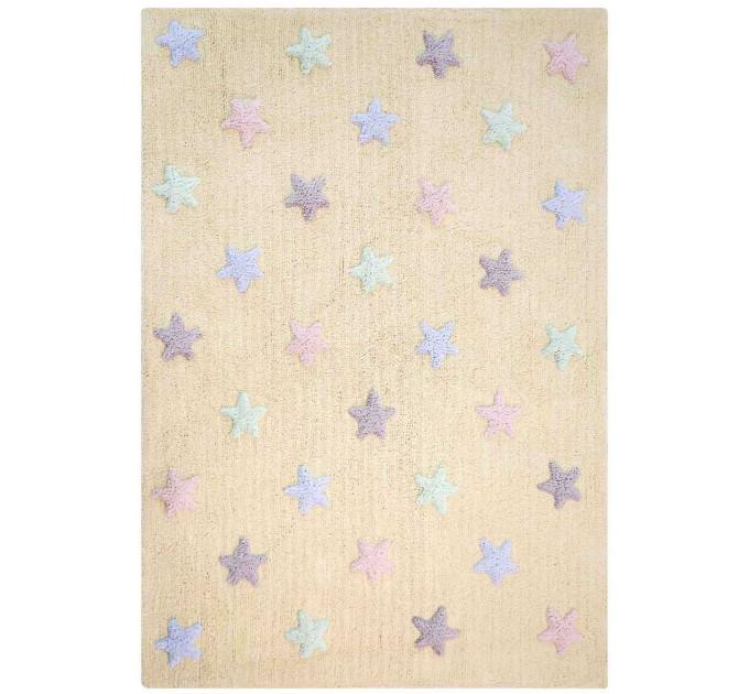 Ковер Lorena Canals Триколор Звезды Stars Tricolor ванильный 120 на 160 см