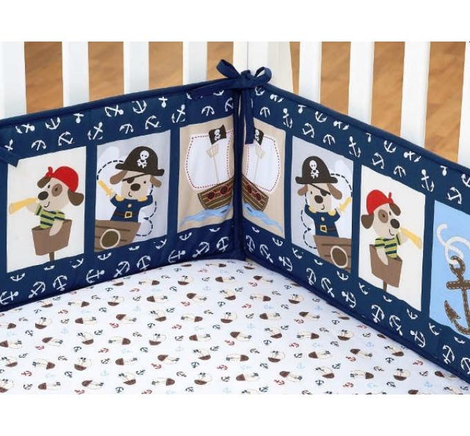 Комплект белья в кроватку Giovanni Shapito Piratic 60х120 (7 предметов)