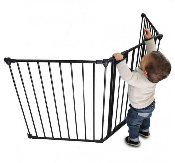 Ограждение для детей Safe and Care XL (графит) 210 см