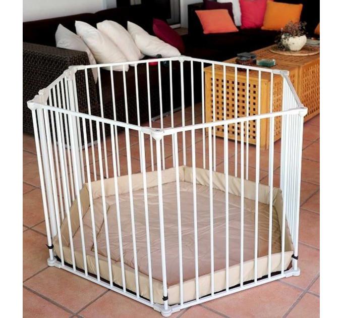 Манеж для детей Safe and Care металлический белый